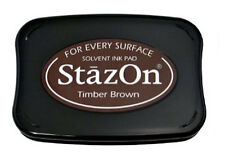 StazOn Solvent Ink Pad TIMBER BROWN SZ-41 Tsukineko Sealed Brand NEW!