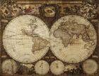"Vintage Old World Map nova totius terrarum CANVAS PRINT poster 24""X18"""