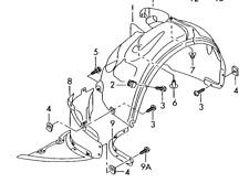 Audi TT 07 - 14 OEM Fender Liner Splash Shield 8J0821171B Front Left GENUINE