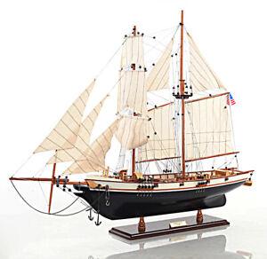 "1847 Harvey Baltimore Clipper Wooden Model Tall Ship 35"" Sailboat"