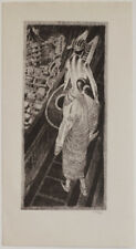 1930s Orientalist, erotic lithograph, signed
