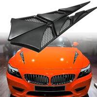 Schwarz Auto Side Air Flow Vent Kotflügel Abdeckung Einlass Grille Aufkleber