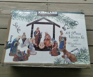 Kirkland Signature 75177 Nativity Set 11 out 13 Pieces in BOX Nice Condition
