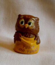 Hallmark Merry Miniature 1988 Halloween Owl with Trick or Treat Bag