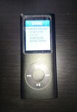"""Reproductor de mp3 8 GB FM Negro Réplica De Pantalla Ipod Nano 4th generación 1.8"""" medios de música"""