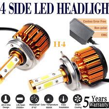 4Sides CANBUS H4 Led Headlight 38000LM Hi Lo Beams Conversion Kit Bulb 6000K 2x
