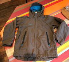 Veste blouson de pluie 10 a, imperméable Kway Décathlon Quechua marron turquoise