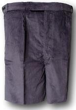 metalizado gris, Gris Medio & Azul Marino pana Uniforme Corto Pantalones