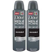 Dove Men Care Dry Spray Antiperspirant 2 Pack Invisible 3.8 oz Each B353
