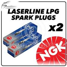 2x NGK SPARK PLUGS PART NUMBER LPG1 stock n. 1496 NUOVO Laserline Lpg sparkplugs