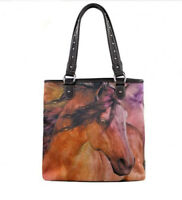 HORSE & WESTERN LADIES WOMENS MONTANA WEST HORSE ART SHOULDERBAG HANDBAG TOTE
