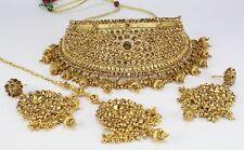 Indian Fashion jewelry Bib Statement New Rhinestone Wedding Necklace Earring set