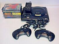 Sega Megadrive PAL Console, Controllers, Cables & 4 Games VGC Free UK P&P