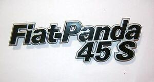 FIAT PANDA 45 S/ SCRITTA POSTERIORE/ REAR NAMEPLATE BADGE