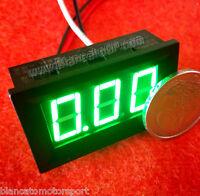 Amperometro Pannello DC 0-10A LED VERDE corrente camper auto moto eolico solare
