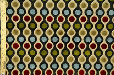 """Vintage Multi-Color Heavy Upholstery Embroidered Queen 58"""" By The Yard"""
