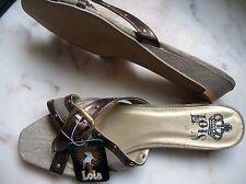 REBAJAS Lois preciosas sandalias hebillas beis oro cobre chica mujer talla nº 41