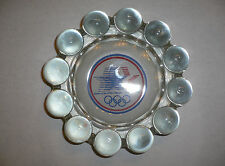 1984 Olympic Games Los Angeles - Crystal Ashtray with Official Olympic Logo!!!!!