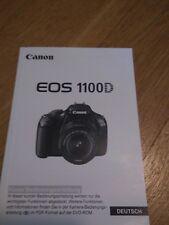 canon EOS 1100d Bedienungsanleitung Gebrauchsanleitung Manual Camera