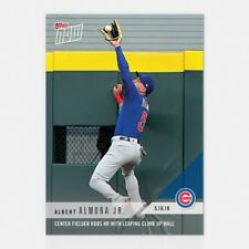 2018 TOPPS NOW #219 CF ROBS HR WITH LEAPING CLIMB UP WALL -ALBERT ALMORA JR.