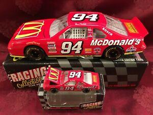 BILL ELLIOTT 1995 #94 McDonalds Ford Thunderbird 1/24 & 1/64 HO Car Diecast SET