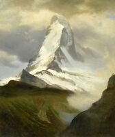 Matterhorn 75cm x 63cm by Albert Bierstadt Canvas Print
