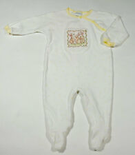 CARTERS BABY GIRLS 6M 9M 1 PC FOOTED OUTFIT SPRING TRIO BUNNY RABBITS EASTER 6-9