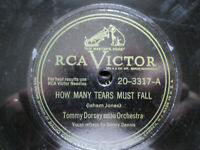Tommy Dorsey Orchestra How Many Tears Must Fall ~ Down By The Station RCA Victor