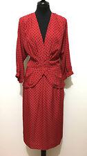 LUISA SPAGNOLI VINTAGE '80 Abito Vestito Donna Pois Woman Dress Sz.M - 44