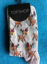 Topshop Cotton Blend Novelty, Cartoon Socks for Women