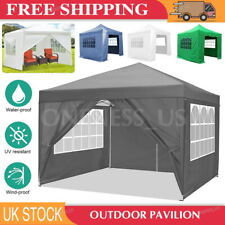 More details for gazebo marquee party tent with sides waterproof garden outdoor canopy 3x3/4/6m