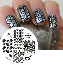BORN PRETTY Nail Art Stamping Plate Mix Patterns Image Stamp Template #09