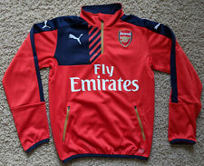 Arsenal 15/16 Home quarter zip training jacket youth XL - boys 2015/16