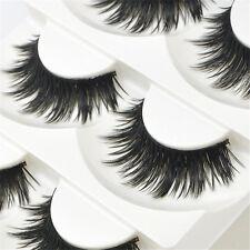 5 Pairs Natural Eye Lashes Makeup Handmade Soft Long Thick Black False Eyelashes