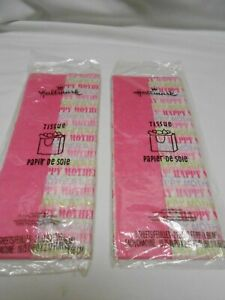 💕 New 2 packs Hallmark Happy Mother's Day tissue Wrap Paper for gift bags