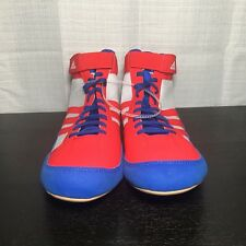 Adidas HVC 2 Adult Mens Wrestling Shoes AQ3324 Red/White/Blue US Mens Shoe