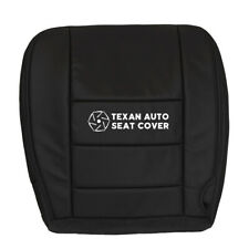 04 05 Ford F250 F350 Lariat XL Crew Cab Driver Bottom Leather Seat Cover Black