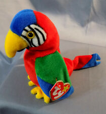 TY Beanie Baby JABBER the Parrot Retires 1997 with errors/oddities