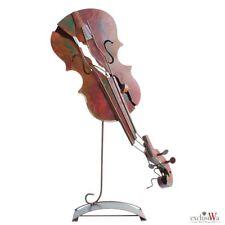 XXl - Luxus Skulptur Geige Metall Figur Handarbeit Gilde Gallery ca. 70x40x15 cm