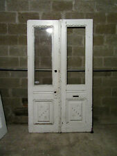 ~ Antique Carved Double Entrance French Doors ~ 47.5 x 82.75 ~ Salvage