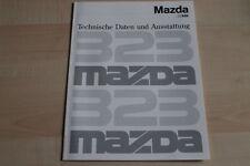 94191) Mazda 323 - technische Daten & Ausstattungen - Prospekt 09/1990