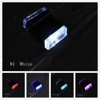 5V Mini USB LED Car Interior Light Neon Atmosphere Ambient Lamp Light 1Pcs