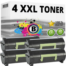 4x XXL TONER PER LEXMARK mx310dn mx410de mx510de mx511de mx511dhe mx511 mx611de