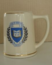 RARE ANTIQUE VTG YALE UNIVERSITY CERAMIC MUG LUX ET VERITAS EMBLEM BEER STEIN