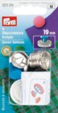 Überziehbare Knöpfe 19 mm Messing rostfrei silberfarbig