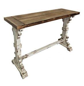 "48"" Brayton Console Table Distressed Farmhouse Shabby Chic"