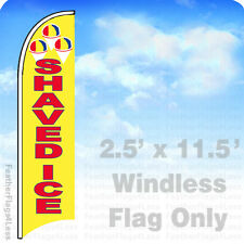 Shaved Ice Windless Swooper Flag Feather Banner Sign 2.5x11.5 - yb