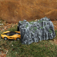 Sn _ 17.8cm Plástico Rastrear Tren Rockery Railway Túnel Simulado Cueva Scene