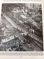 72-1 Ephemera 1963 Picture Tokyo And Yokohama Train Crash