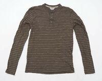 Mountain Warehouse Mens Size S Cotton Striped Brown T-Shirt